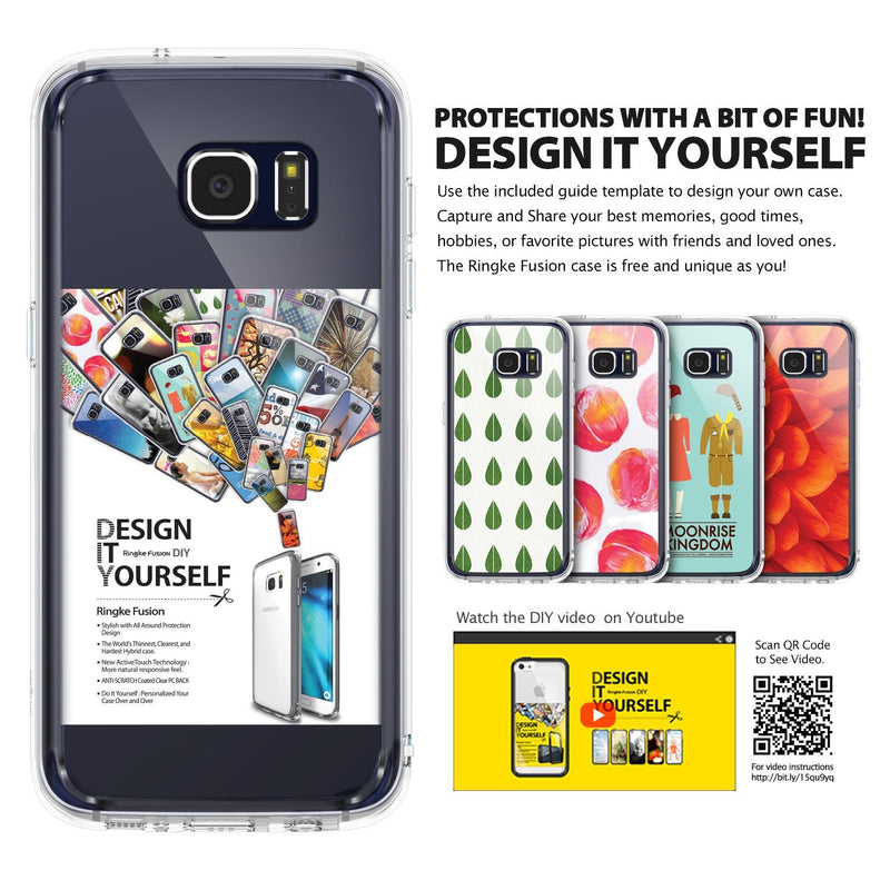 Galaxy S7 Edge Case, Ringke® [FUSION] Tough PC Back TPU Bumper Case