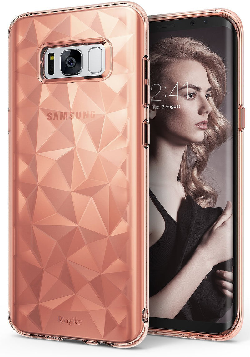 samsung galaxy s8 plus ringke prism rose gold crystal