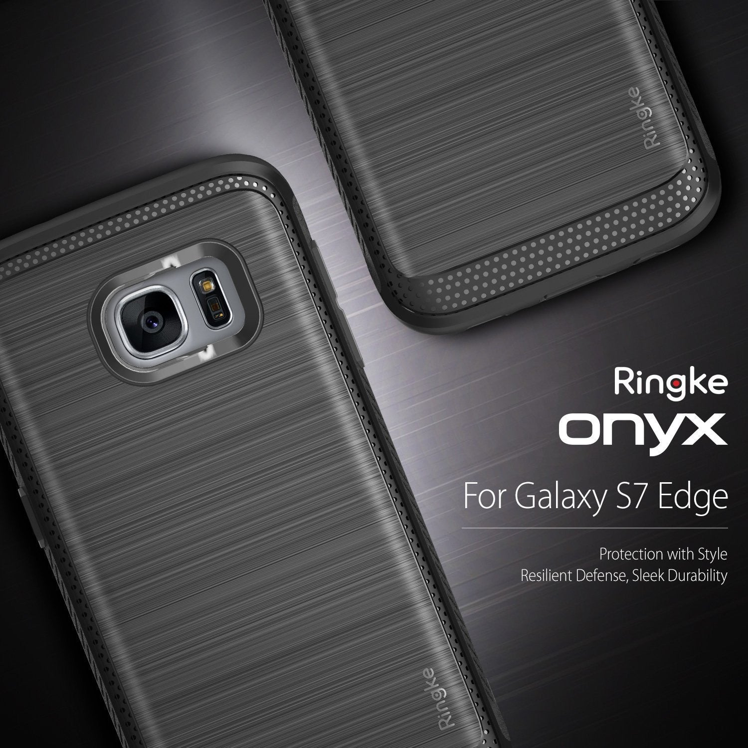 ringke onyx rugged flexible tpu shockproof cover case for galaxy s7 edge