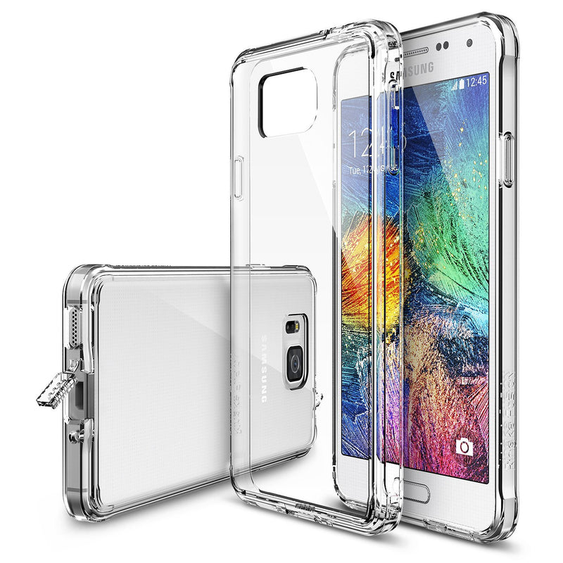 Galaxy Alpha Case, Ringke® [FUSION] Crystal Clear PC Back TPU Bumper Case