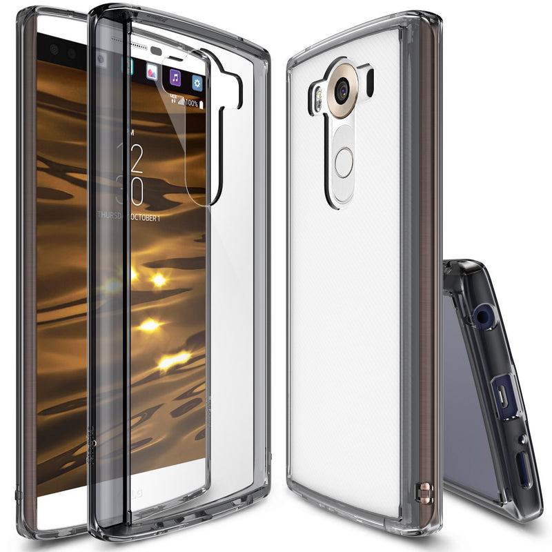 lg v10 case, ringke fusion case crystal clear pc back tpu bumper case