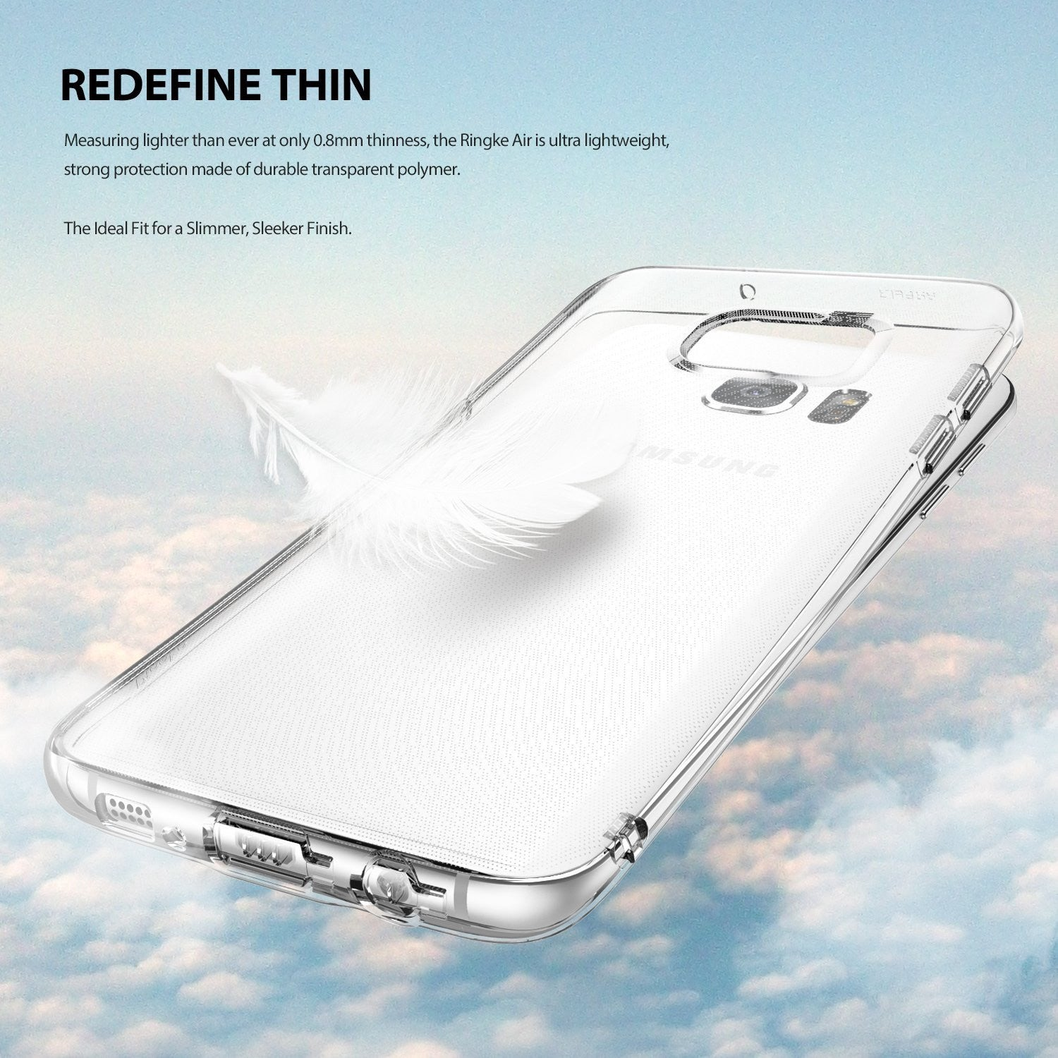 ringke air thin flexible tpu cover case for galaxy s7 edge