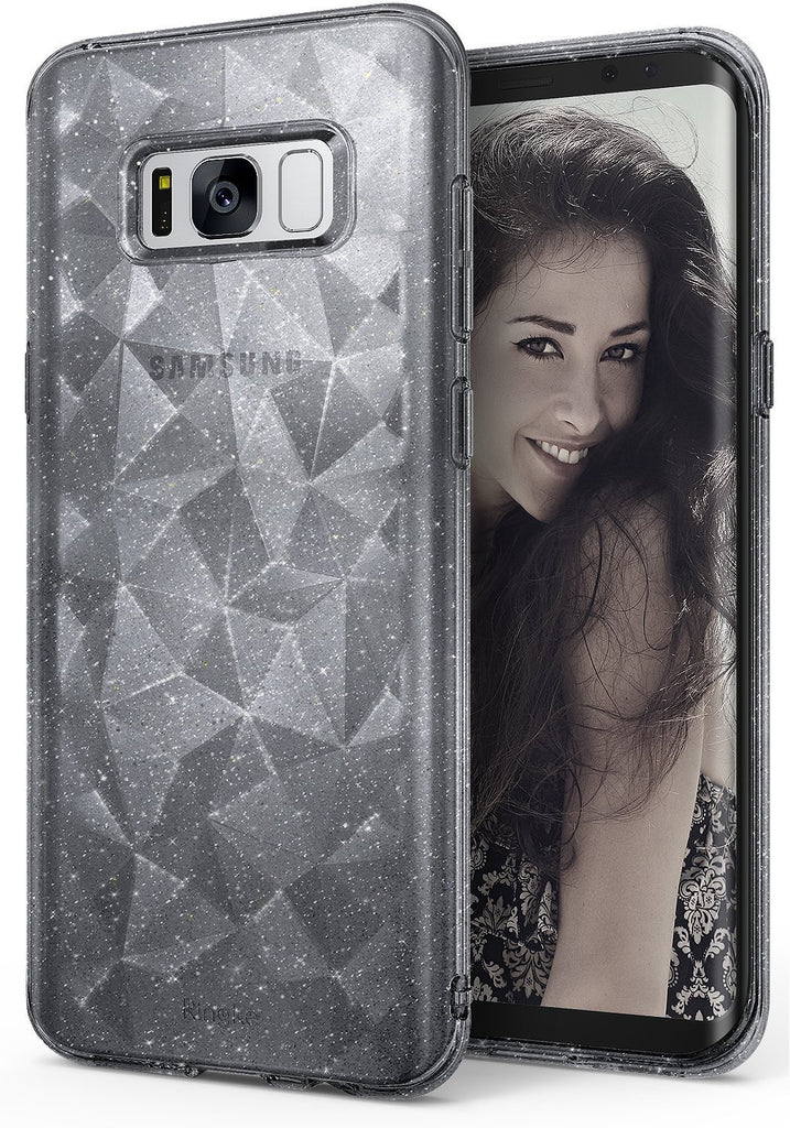 ringke air prism design back 3d flexible cover case for galaxy s8 glitter gray