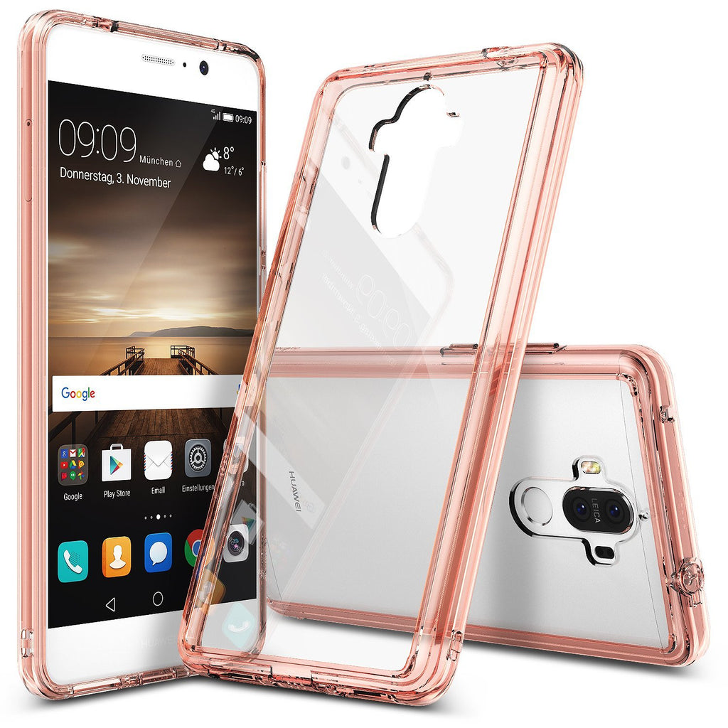 huawei mate 9 case ringke fusion case crystal clear pc back tpu bumper case rose gold crystal