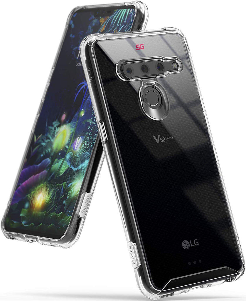 "Designed for LG V50 ThinQ 5G Case Protective Cover 6.4"" (2019) - clear"