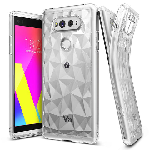 LG V20 Case, Ringke® [AIR PRISM] 3D Contemporary Design Slim Flexible TPU Protective Case