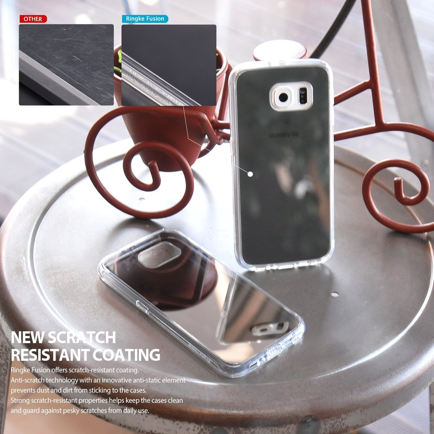 ringke mirror back cover case for galaxy s6