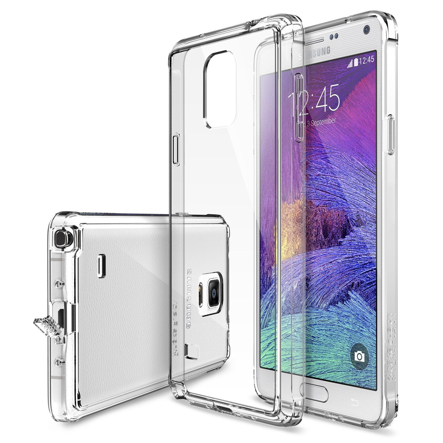 Galaxy Note 4 Case, Ringke® [FUSION] Crystal Clear PC Back TPU Bumper Case