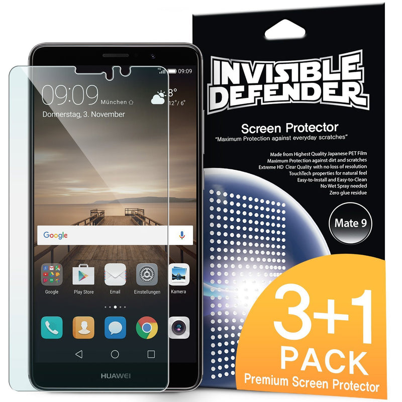 huawei mate 9 ringke invisible defender 3 1 pack screen protector