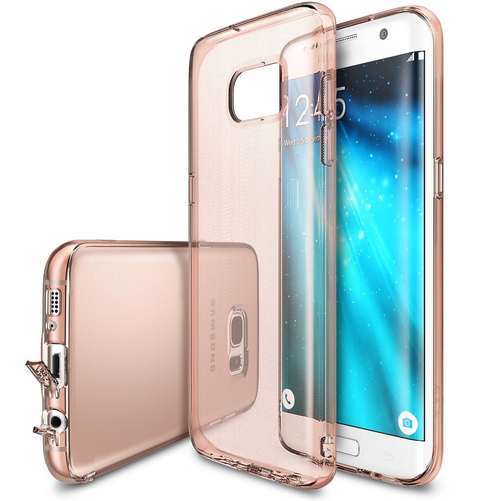 ringke air thin flexible tpu cover case for galaxy s7 edge rose gold