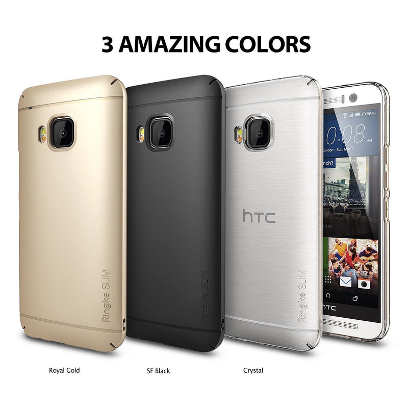 HTC One M9 Case, Ringke® [Slim] Lightweight & Thin Superior Coaring PC Hard Case