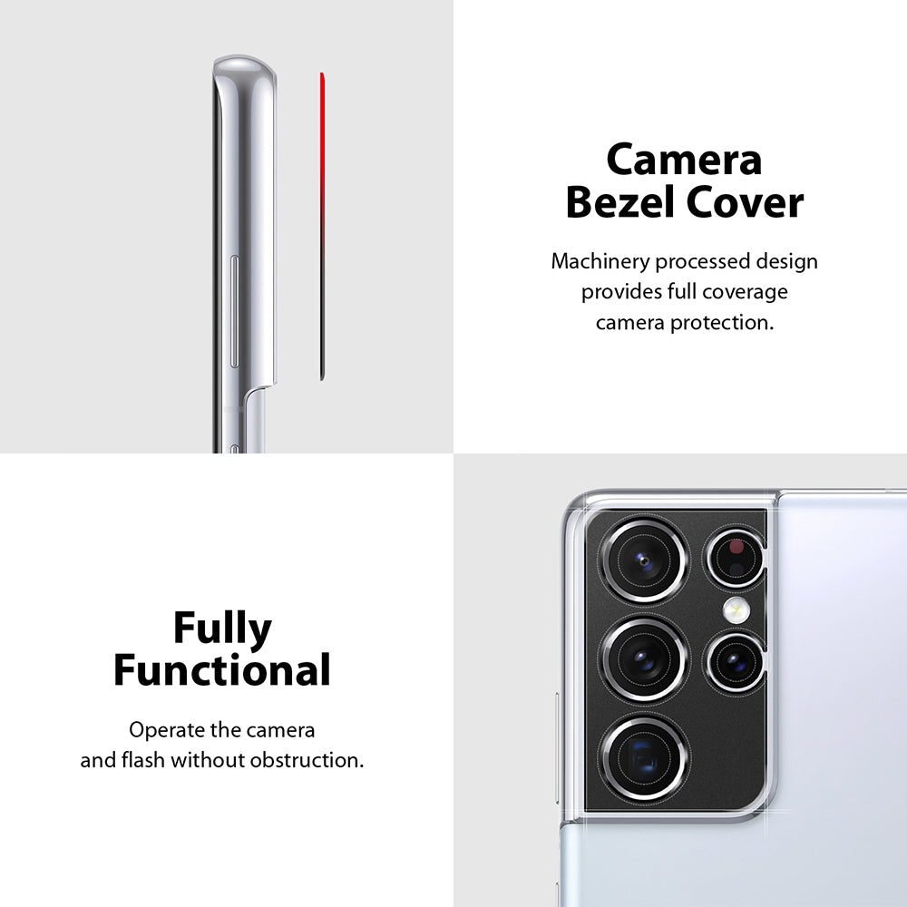 camera bezel cover with full functionality