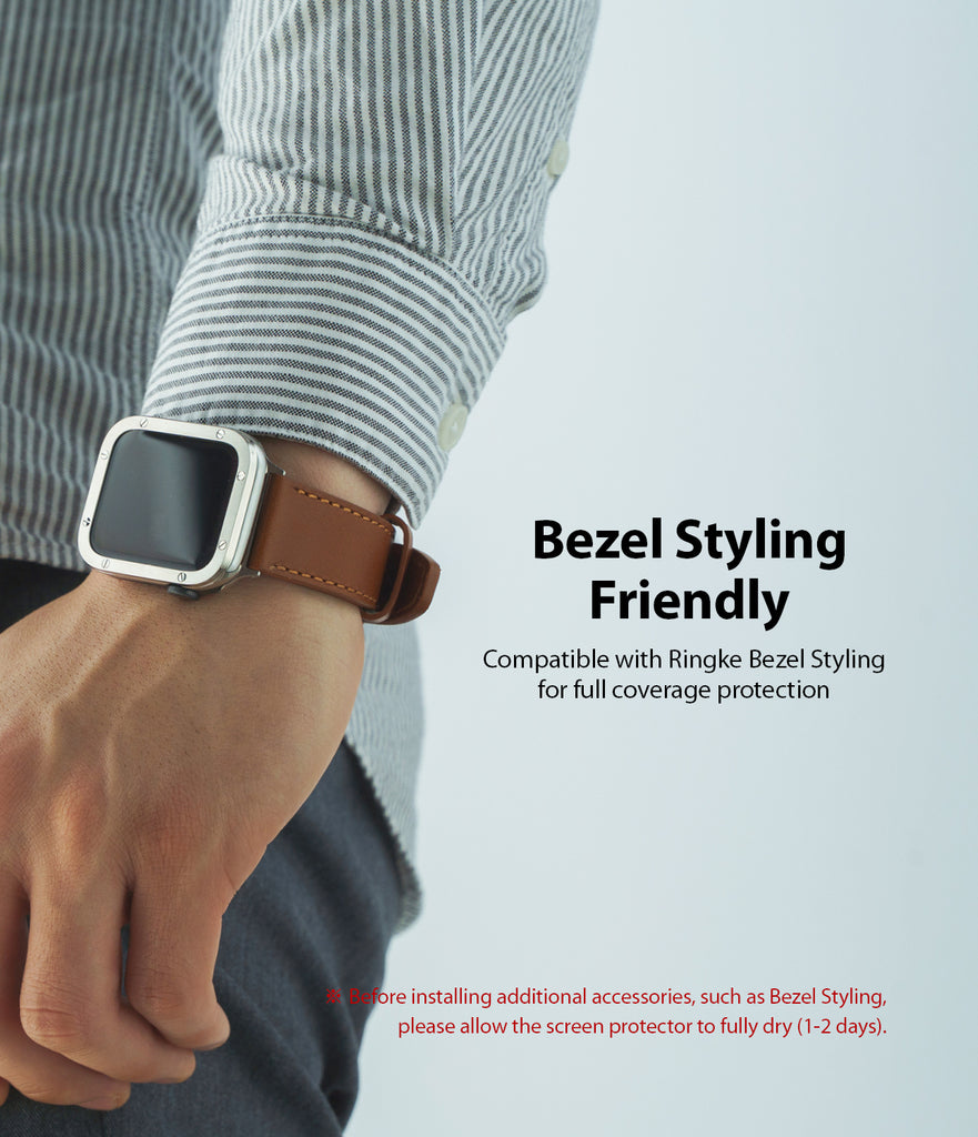 bezel styling friendly : compatible with ringke bezel styling for full coverage protection