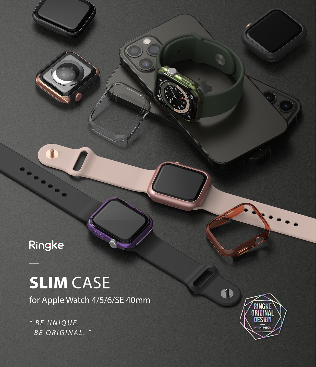apple watch 6, apple watch 5, apple watch 4, apple watch se case - 40mm - ringke slim