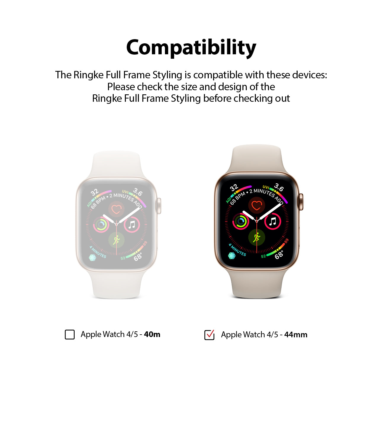 compatible with apple watch 4/5 44mm