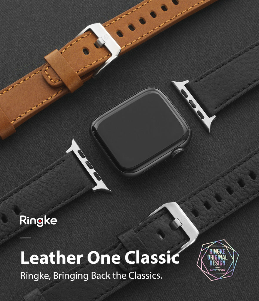 leather one classic band for apple watch