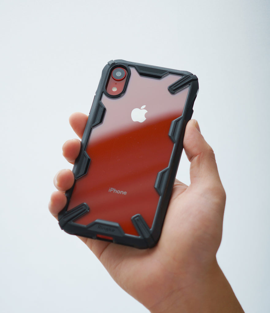 ringke fusion-x for iphone xr case cover main black