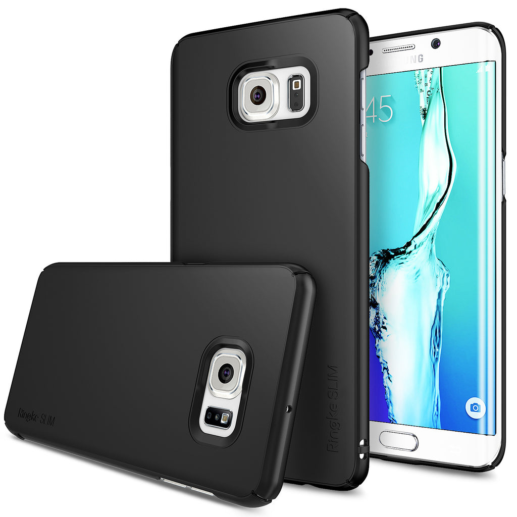 ringke slim premium thin hard pc lightweight cover case for galaxy s6 edge plus black
