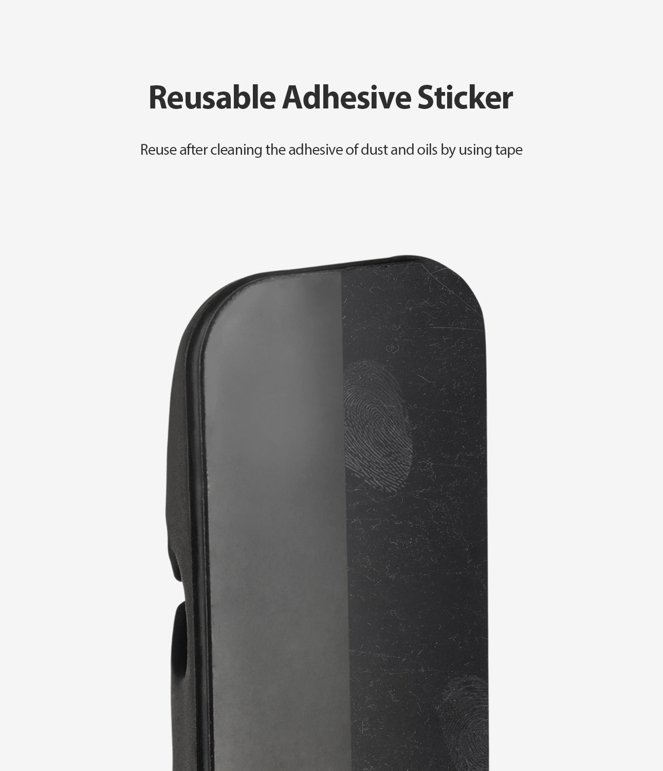 reusable adhesive sticker