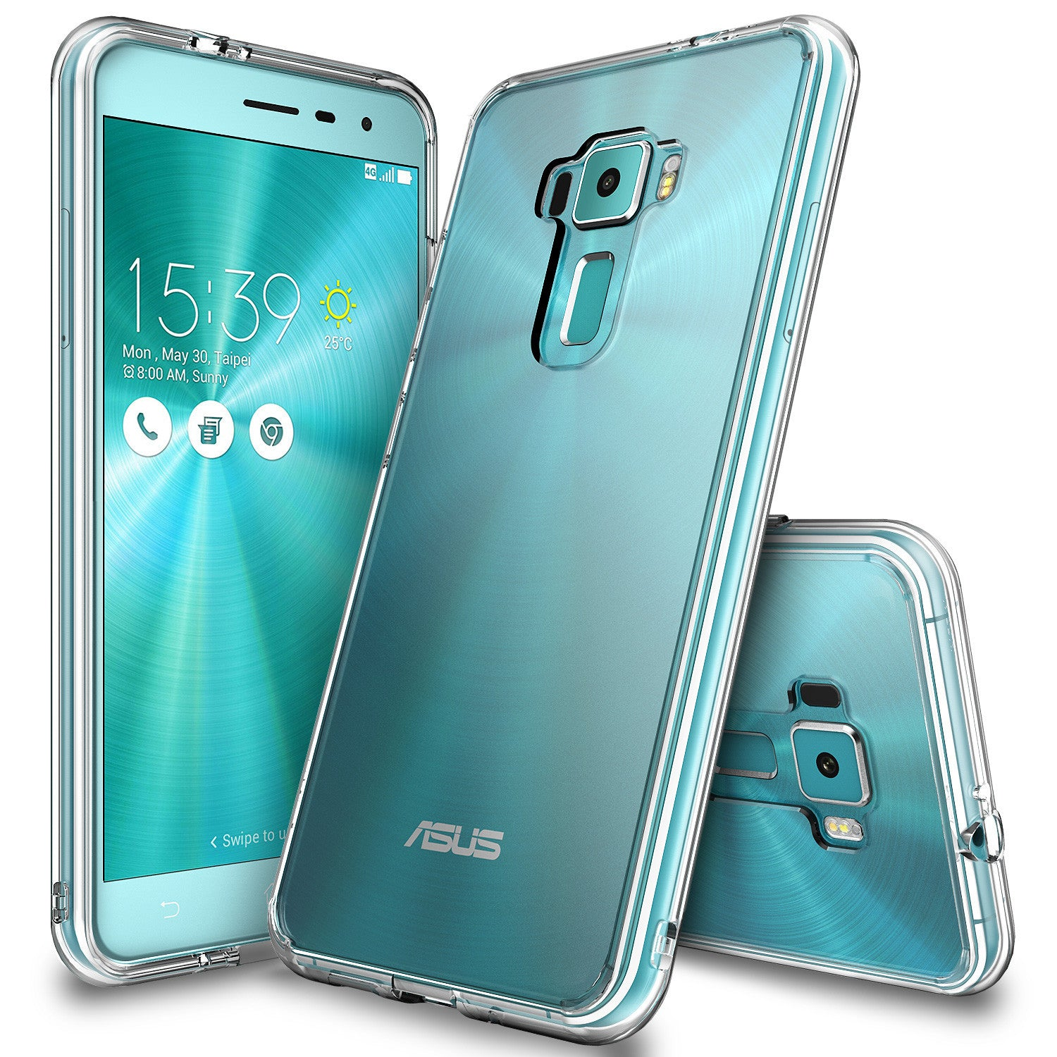 zenfone 3 case, ringke fusioncrystal clear pc back tpu bumper case