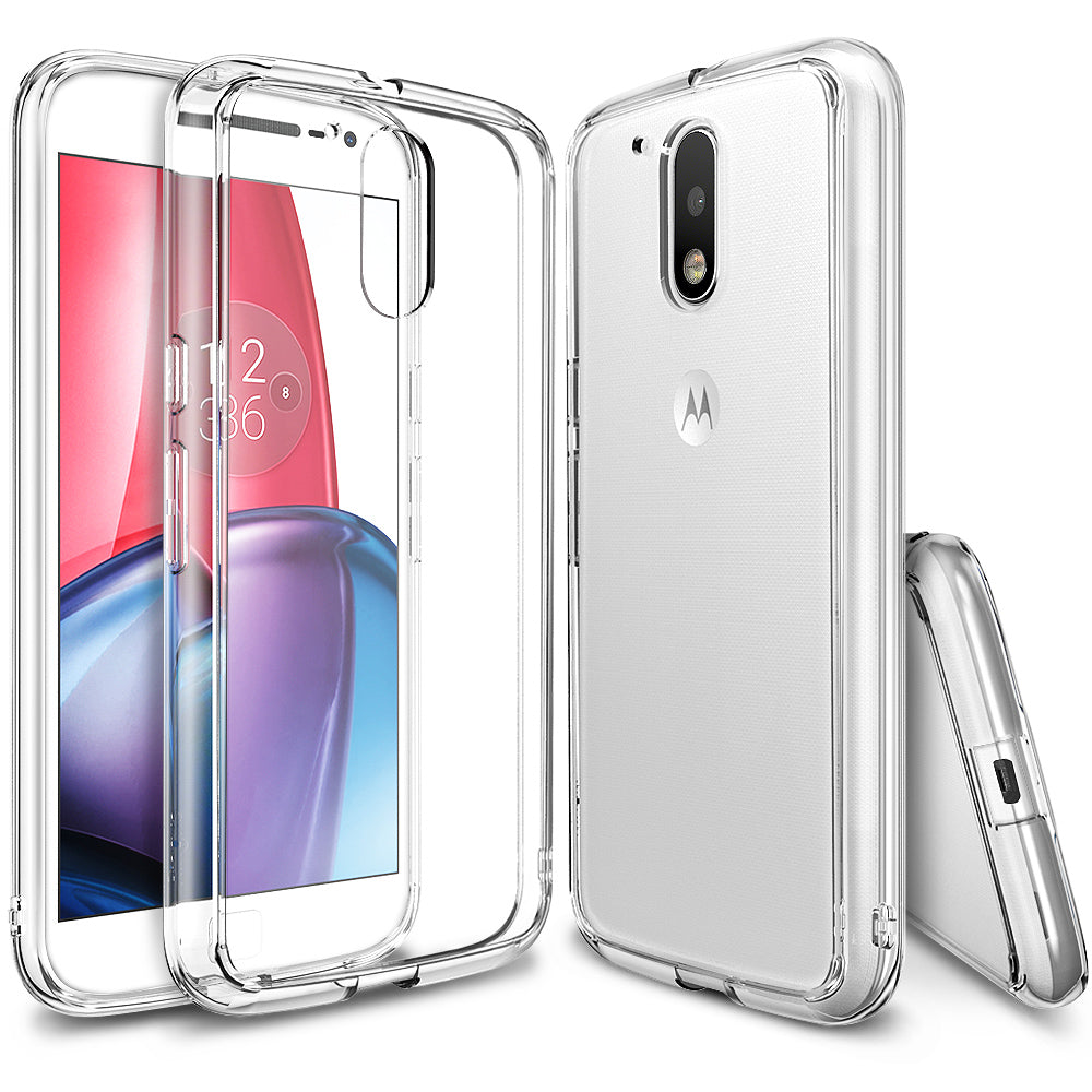 ringke fusion clear transparent hard back cover case for moto g4 and g4 plus main clear