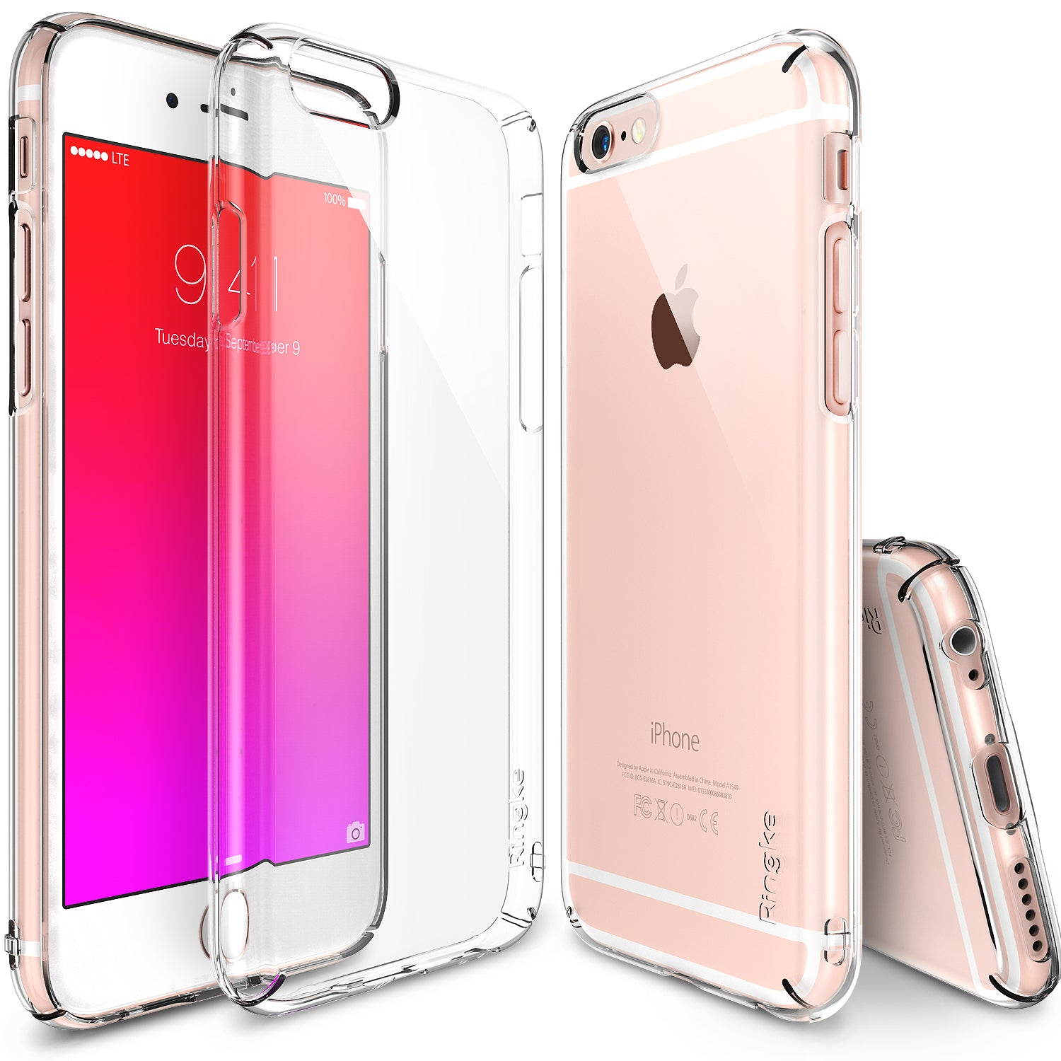 ringke slim lightweight hard pc thin case cover for iphone 6s plus main clear