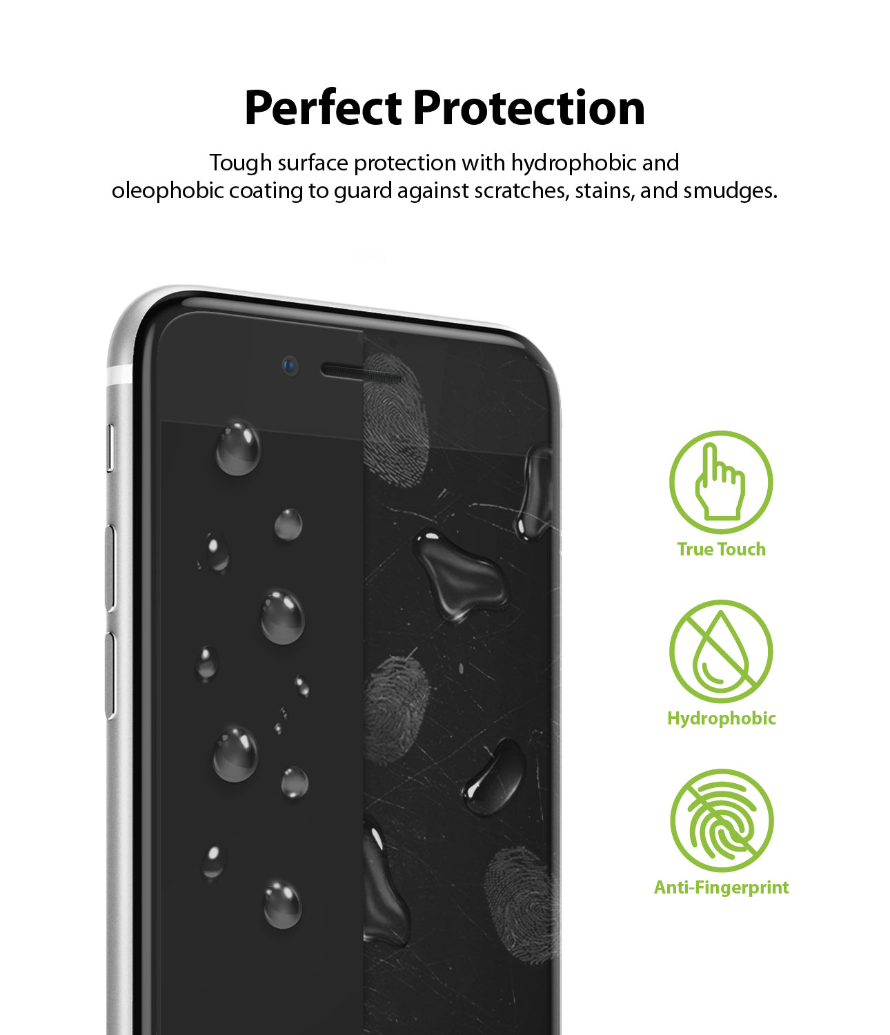 tough surface protection with hydrophobic and oleophobic coating