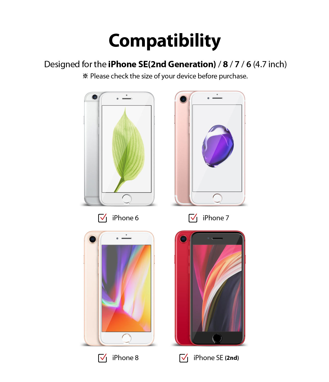 comaptible with iphone 6 / iphone 6s / iphone 7 / iphone 8 / iphone se 2020
