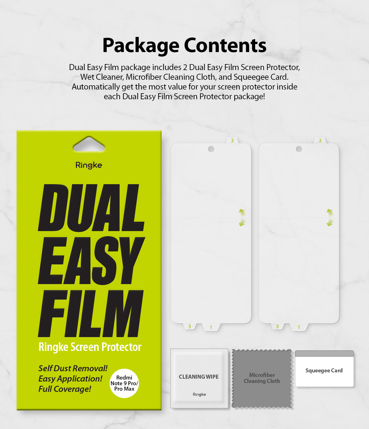 package includes 2 screen protectors