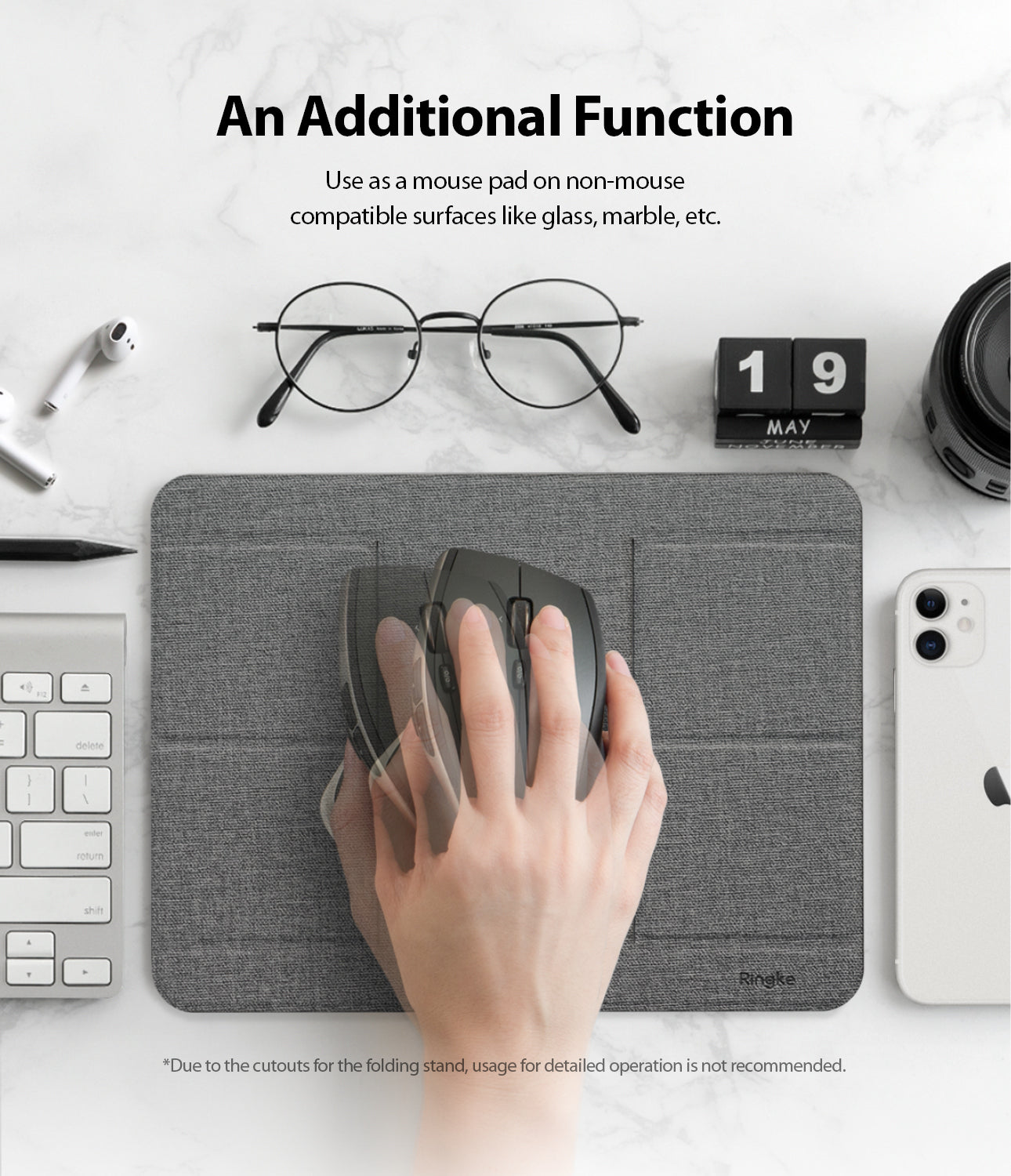 additional fuction: use it as a mousepad