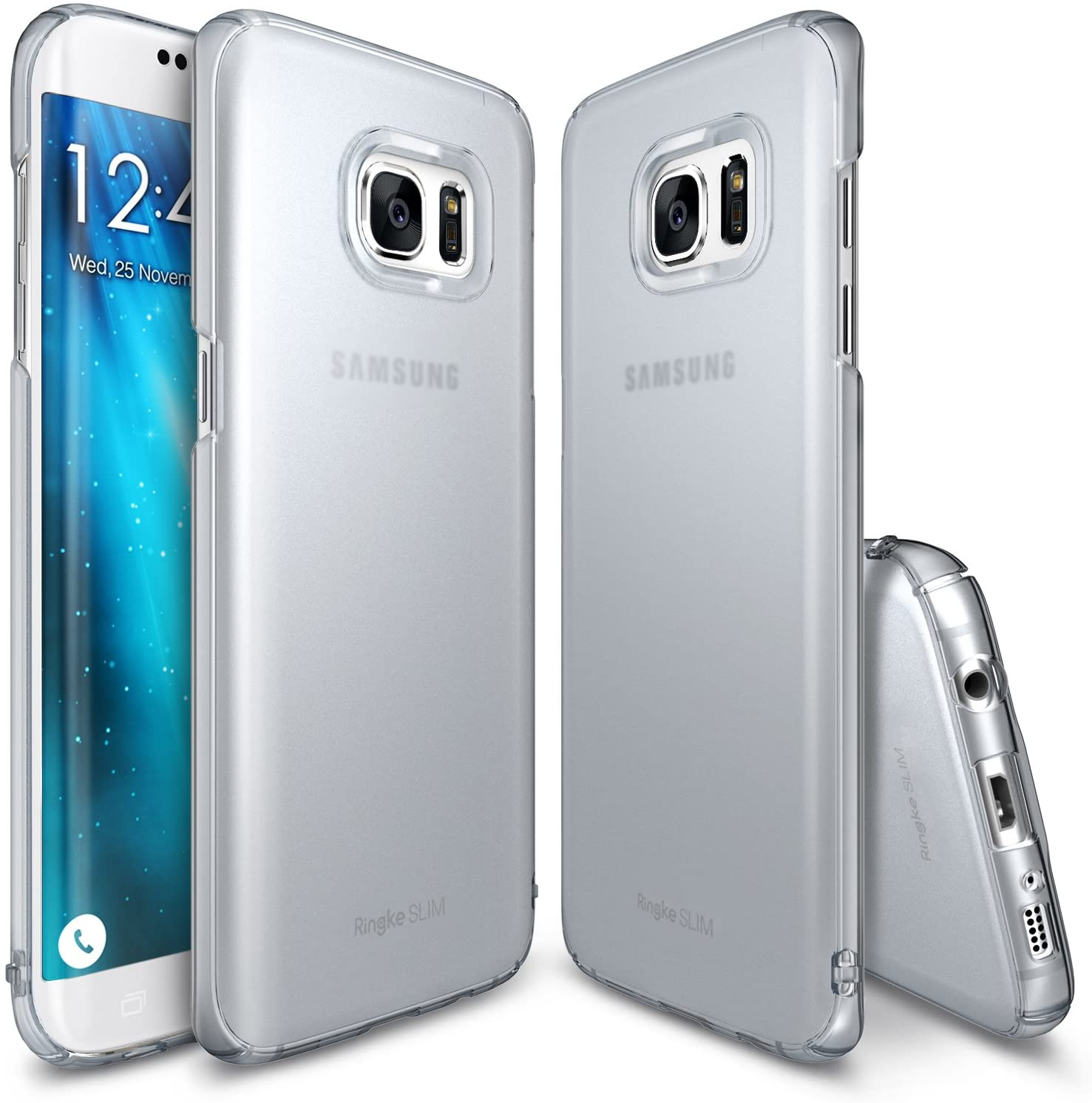 ringke slim premium pc hard cover case for galaxy s7 edge frost gray