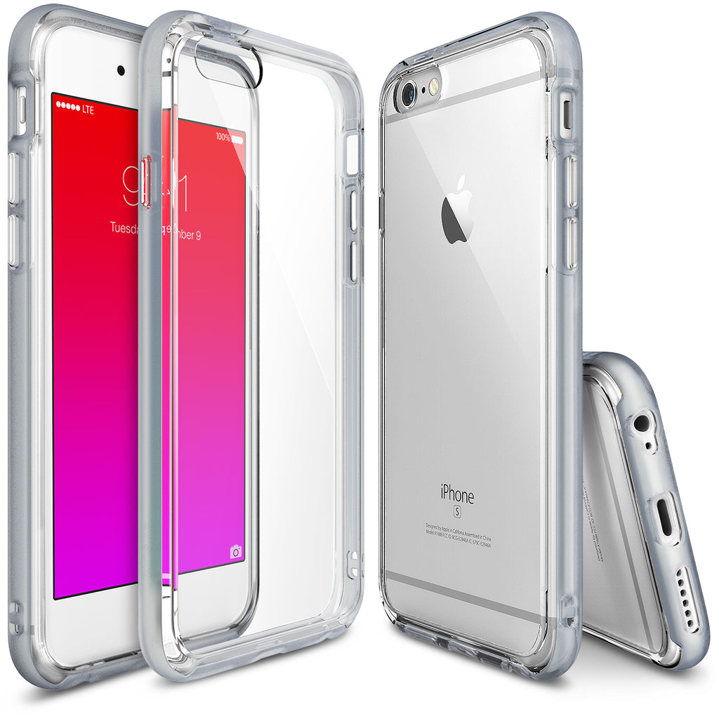 ringke frame bezel side protection case cover for iphone 6 6s main ice silver