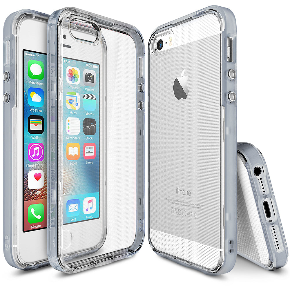 ringke frame heavy duty bumper case cover for iphone se 5s 5 main frost gray
