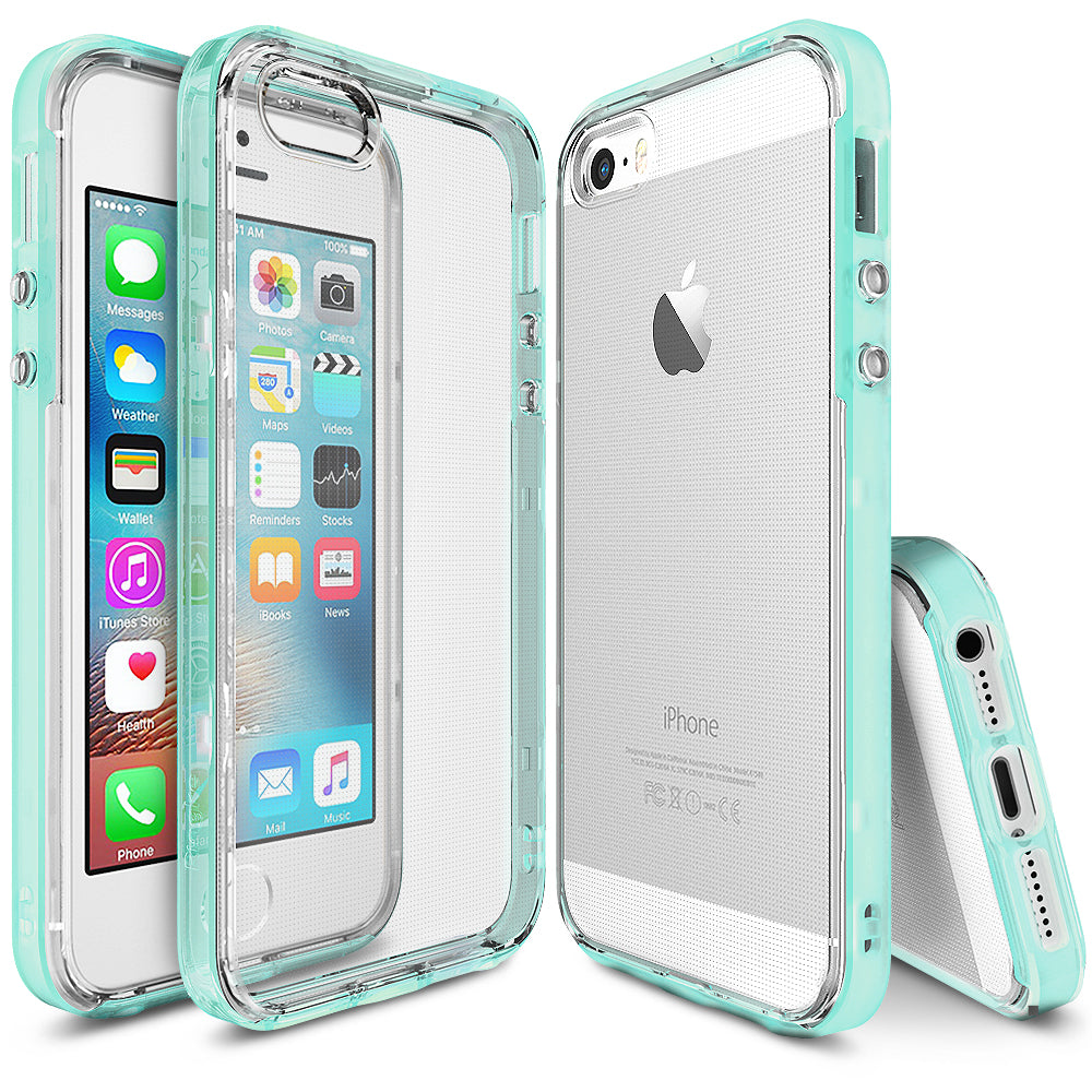 ringke frame heavy duty bumper case cover for iphone se 5s 5 main Frost Mint