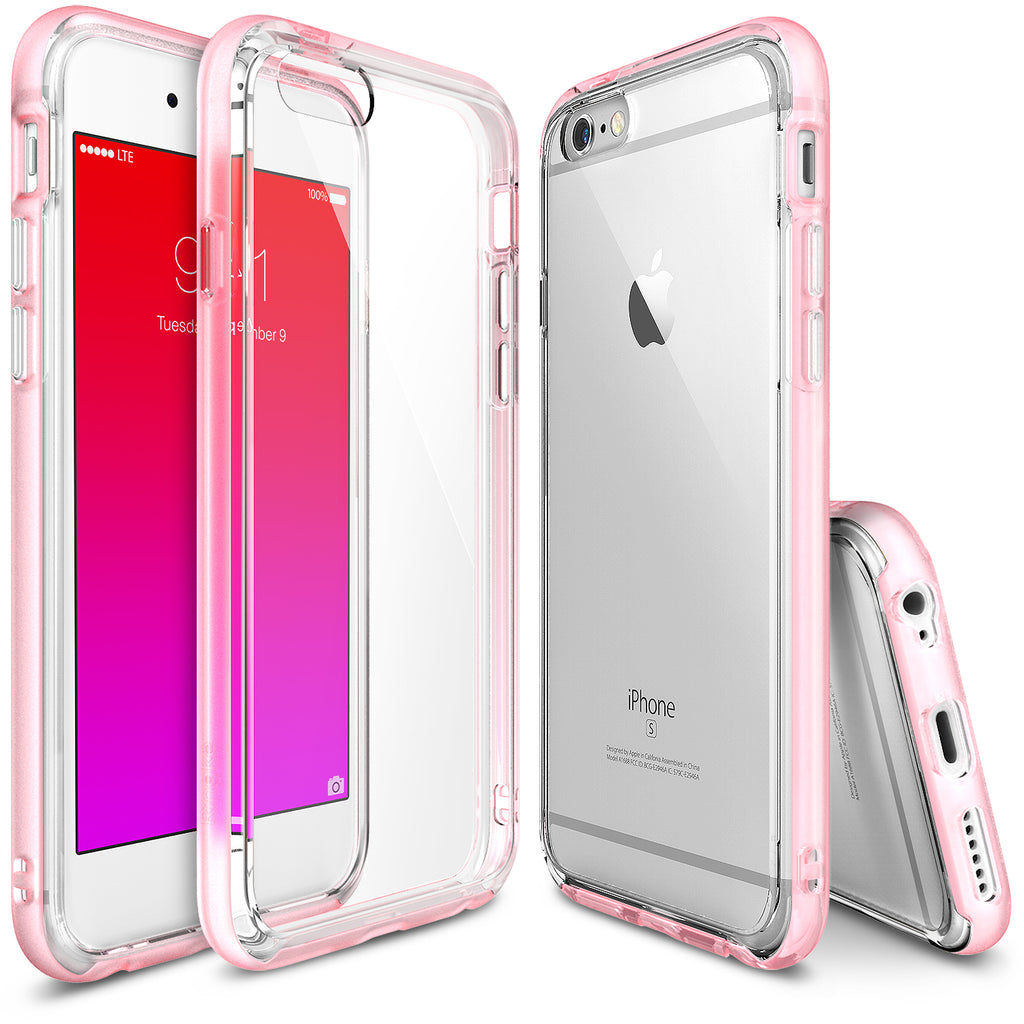 ringke frame bezel side protection case cover for iphone 6 6s main frost pink