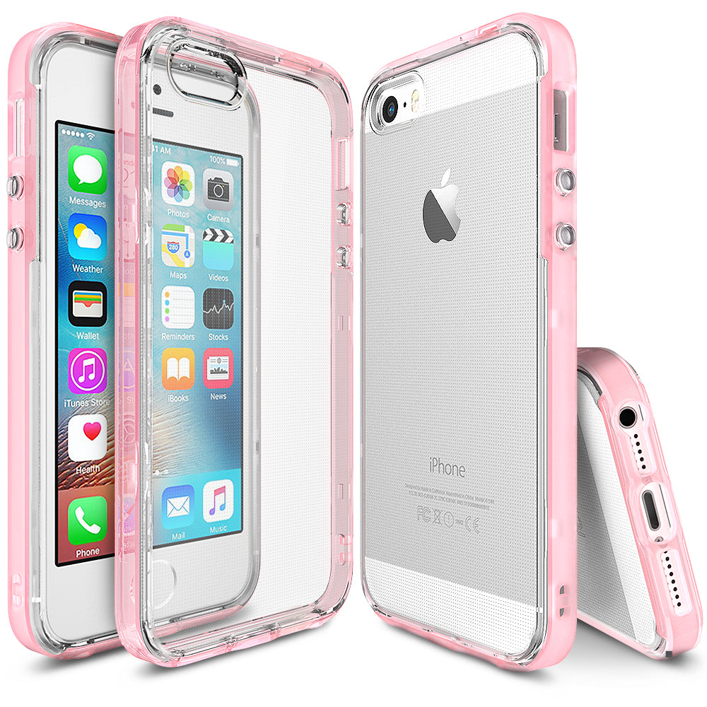 ringke frame heavy duty bumper case cover for iphone se 5s 5 main Frost Pink