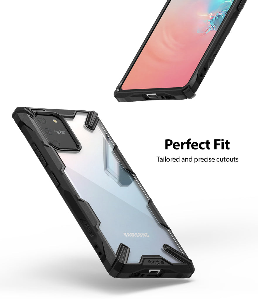 Ringke Fusion-X Case for Galaxy S10 Lite, Black, Perfect Fit