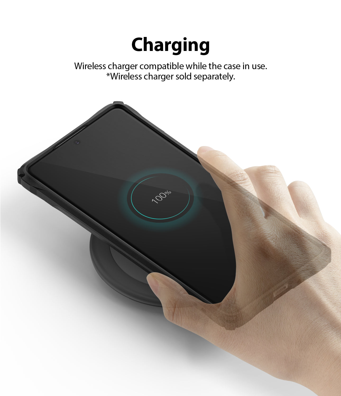 Ringke Fusion-X Case for Galaxy S10 Lite, Black, Wireless Charger Compatible
