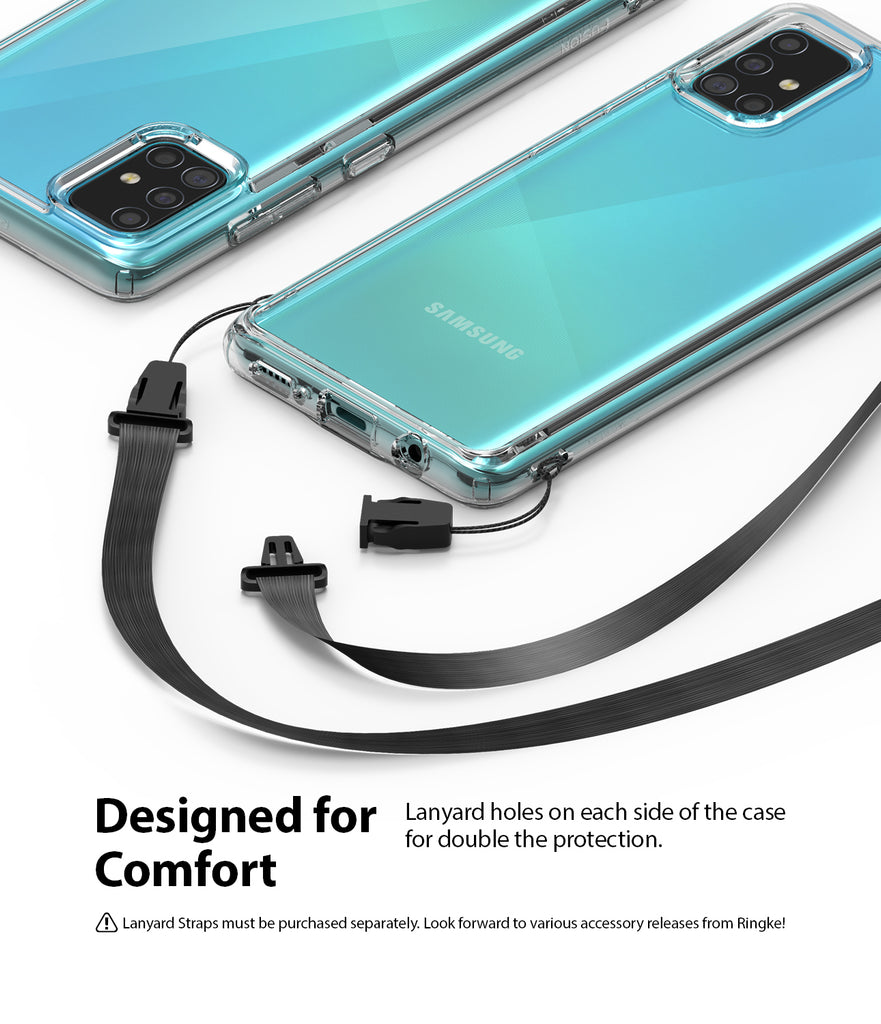 Ringke Fusion Case for Galaxy A51 2020, Clear, Lanyard Holes, Designed for Comfort