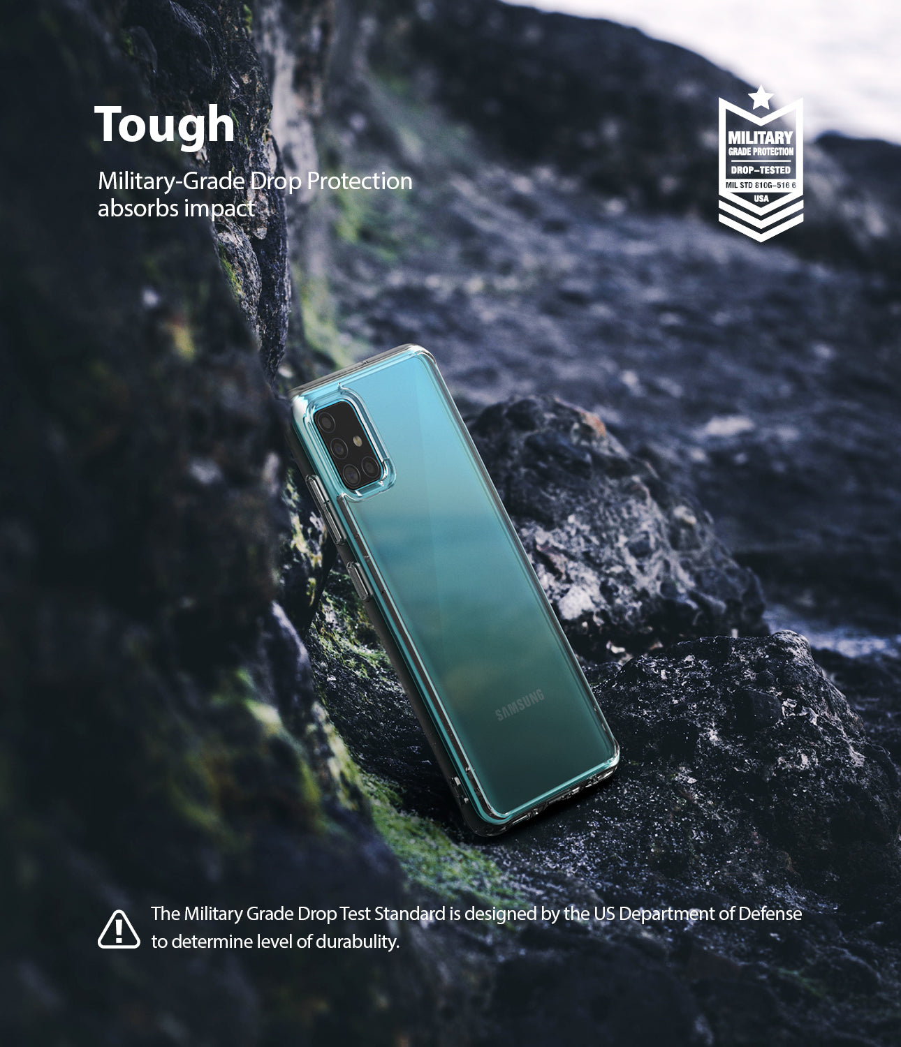 Ringke Fusion Case for Galaxy A51 2020, Clear, Tough, Protection