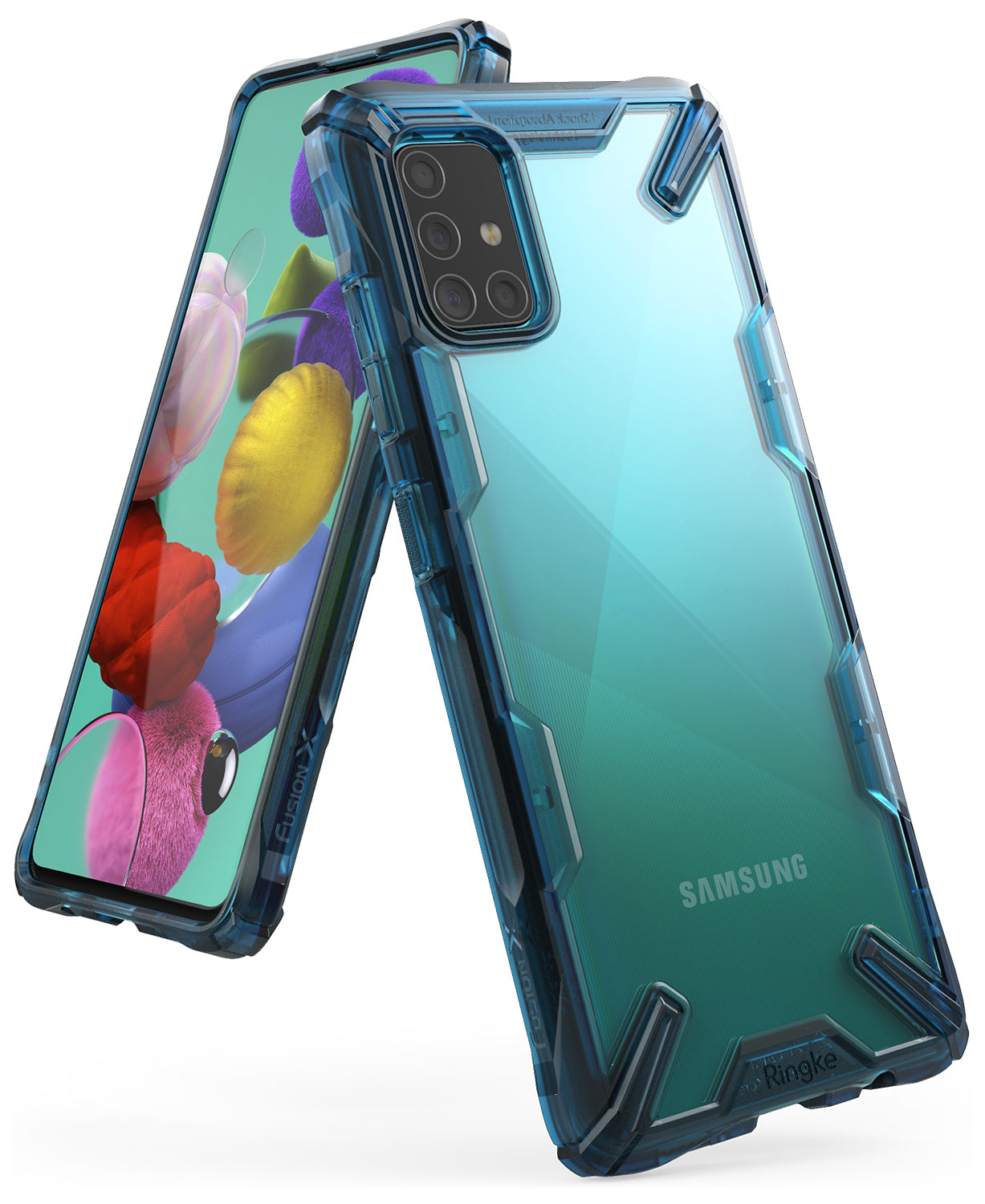 ringke galaxy a51 fusion-x space blue color case