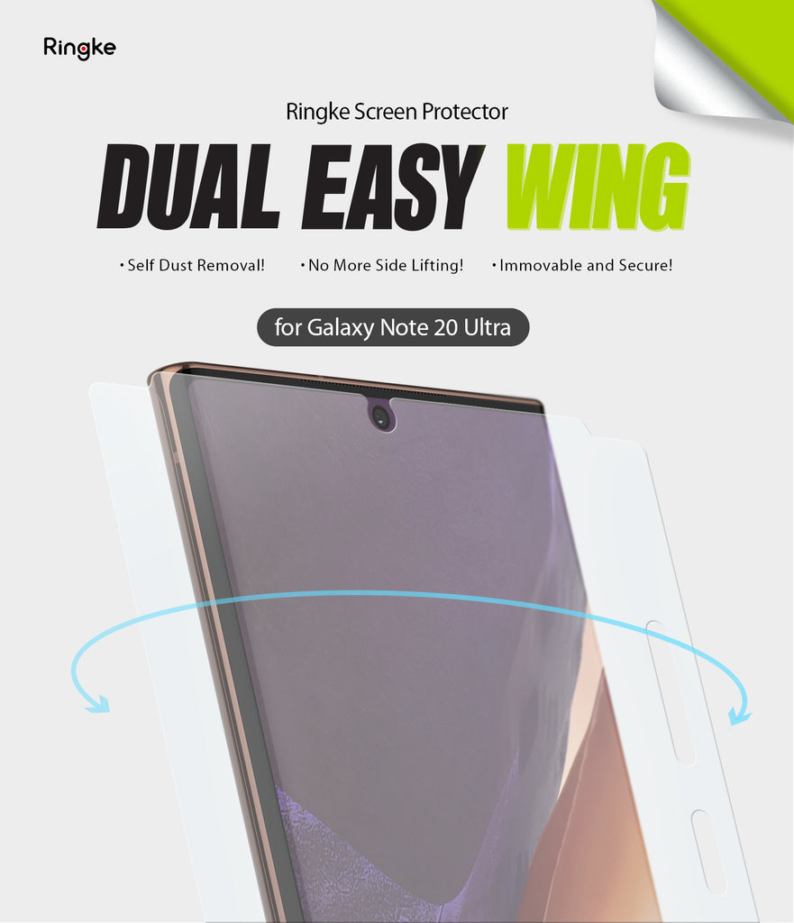 samsung galaxy note 20 ultra screen protector - ringke dual easy film wing