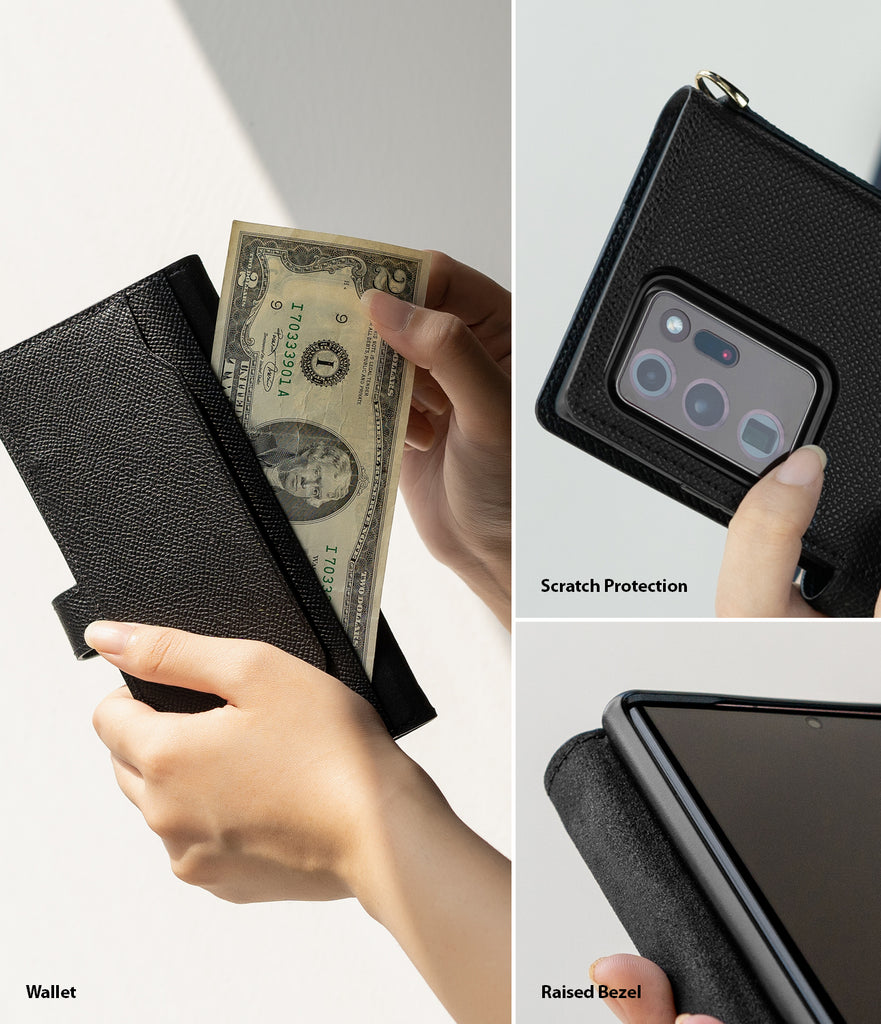 wallet / scartch protection / raised bezel