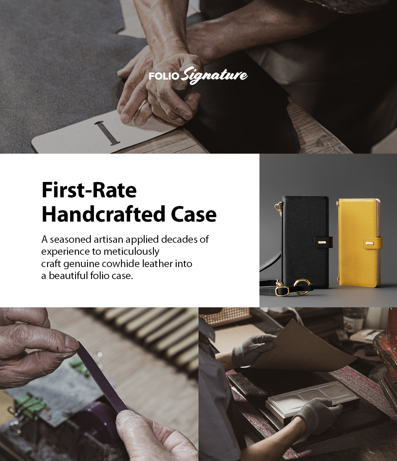 first-rate handcrafted case - a seasoned artisan applied decades of experience to meticulously craft genuine cowhide leather into a beautiful folio case