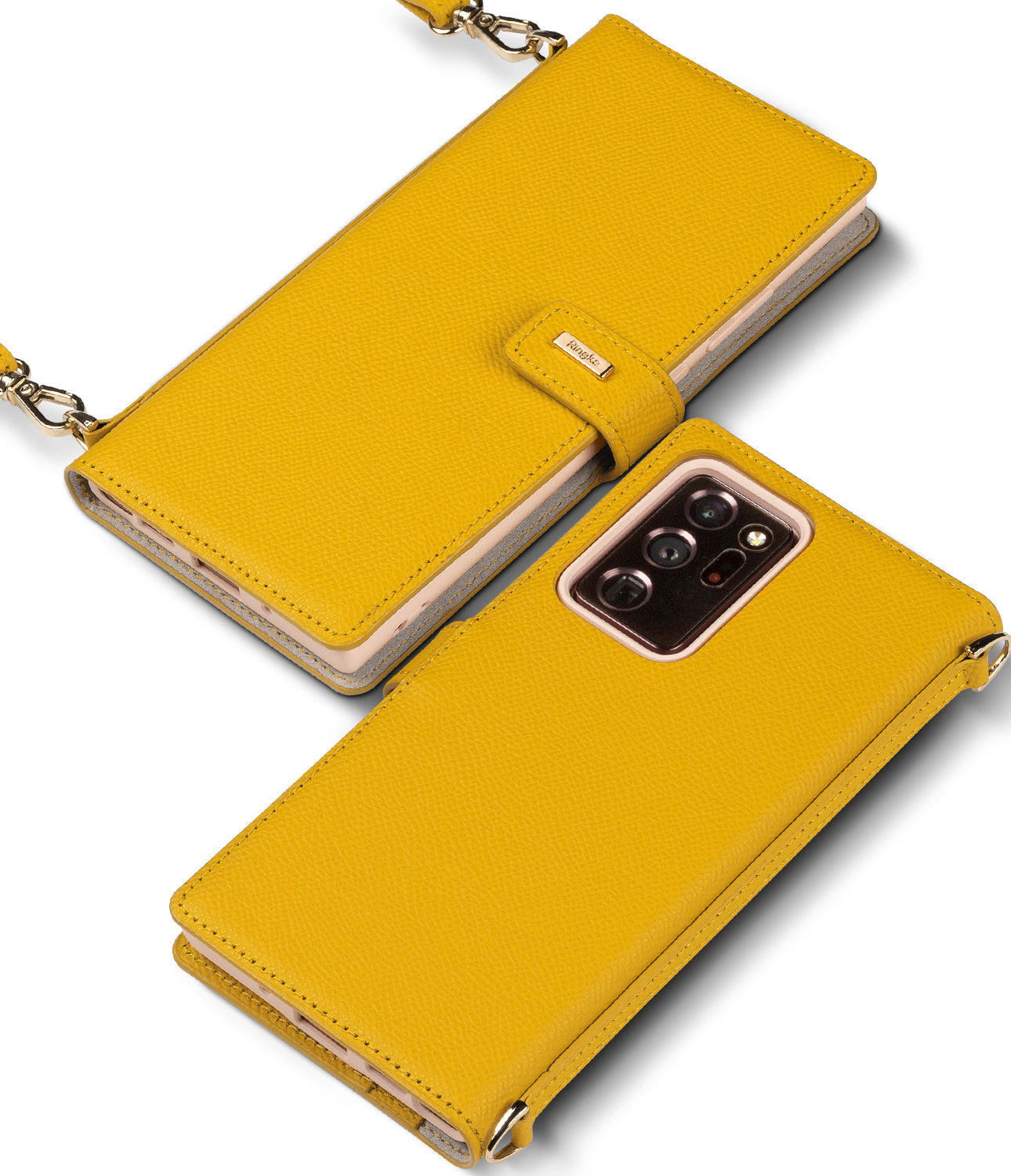 ringke signature folio case for samsung galaxy note 20 ultra - yellow
