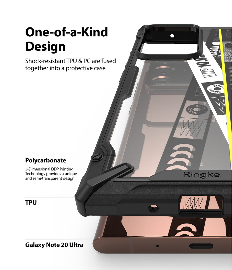 Galaxy Note 20 Ultra Case | Fusion-X Design 01. Ticket Band