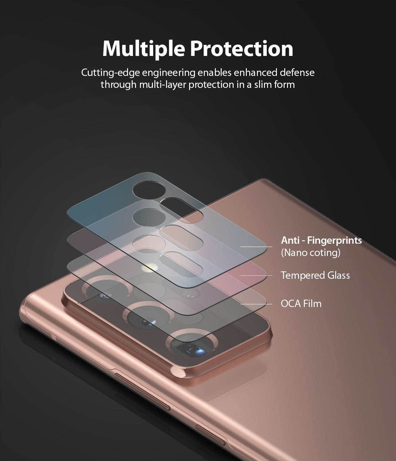 Galaxy Note 20 Ultra Camera Protector | Invisible Defender Glass