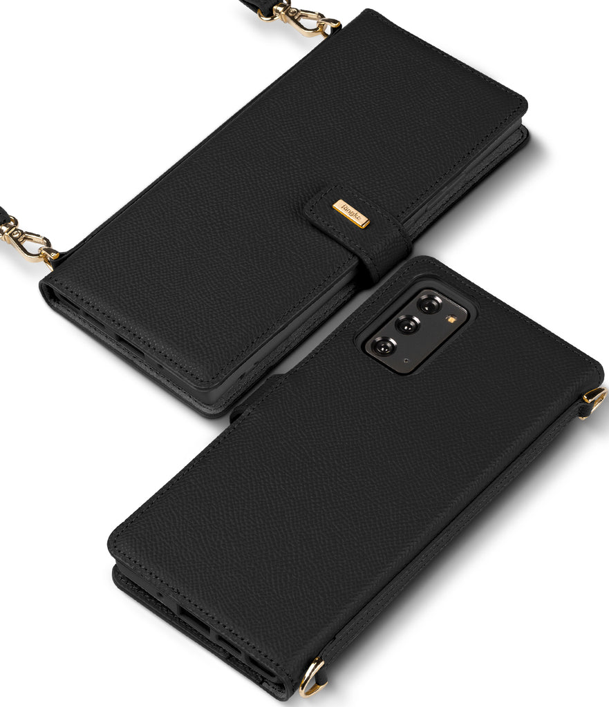 ringke signature folio case for samsung galaxy note 20 - black