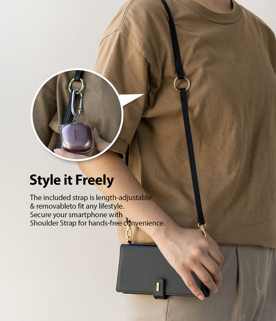 style it freely - the included strap is length-adjustable and removable to fit any lifestyle. Secure your smartphone with shoulder strap for hands-free convenience