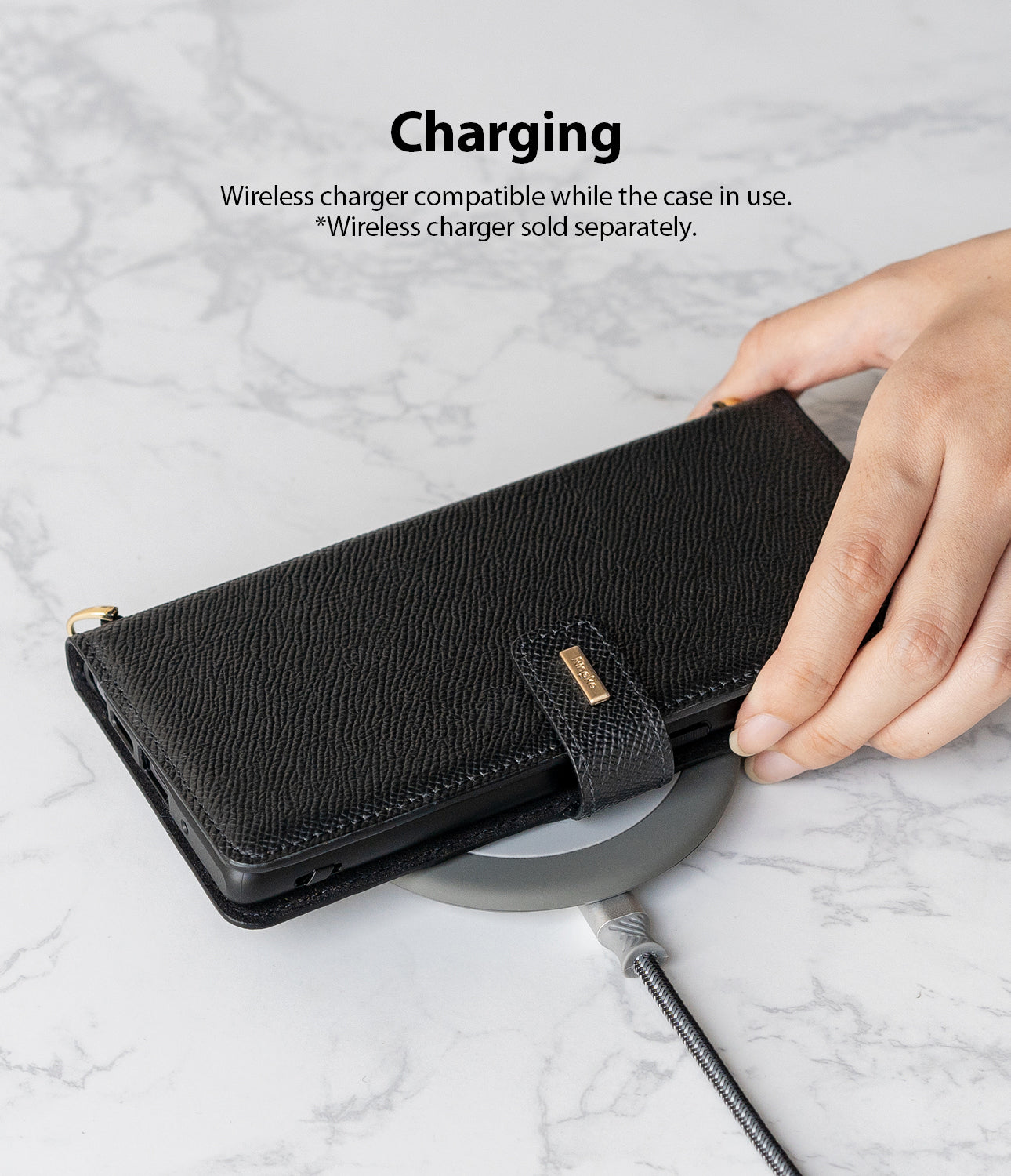 wireless charging compatible *power accessories not included
